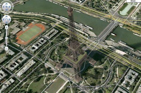 Google Maps a vista de helicóptero