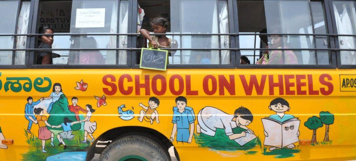 Si no vas a la escuela, la escuela viene a ti… sobre ruedas