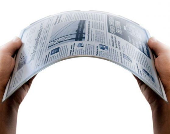 Ya se producen pantallas de papel electrónico flexible