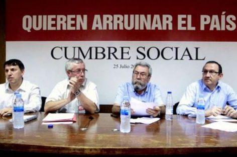 """Cumbre Social: marcha sobre Madrid"""" y un referéndum"""