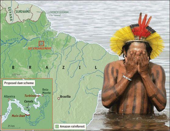 Indígenas brasileños protegen la madre naturaleza