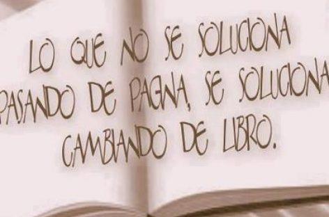 Pasar página, cambiar de libro…