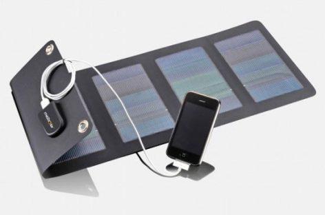 Cargador de movíl con luz solar natural