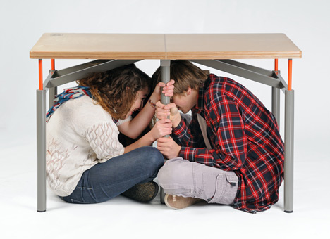 La mesa antiterremotos