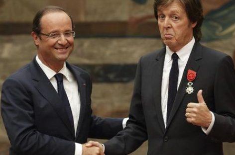 Homenaje de Francia a Paul McCartney