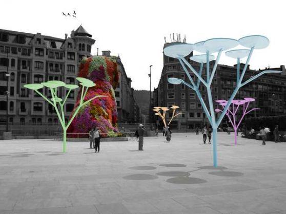 Prototipo de árbol fotovoltaico para la iluminación pública