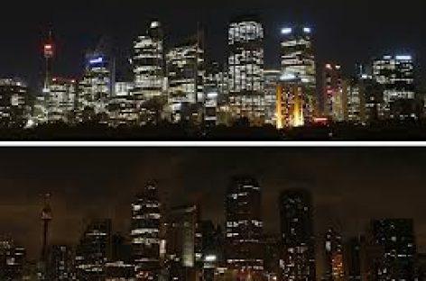 7.000 ciudades apagan la luz