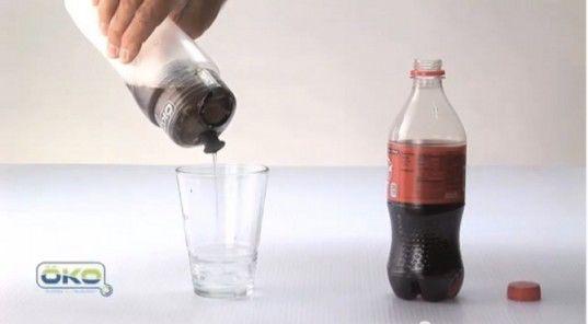 Un filtro que convierte Coca Cola en agua