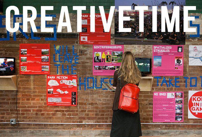 Creative Time-arte social-nuevo arte-tiempo creativ