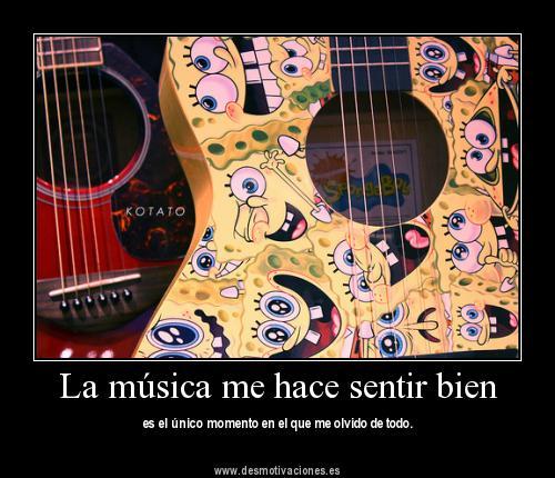 La música nos hace sentir bien