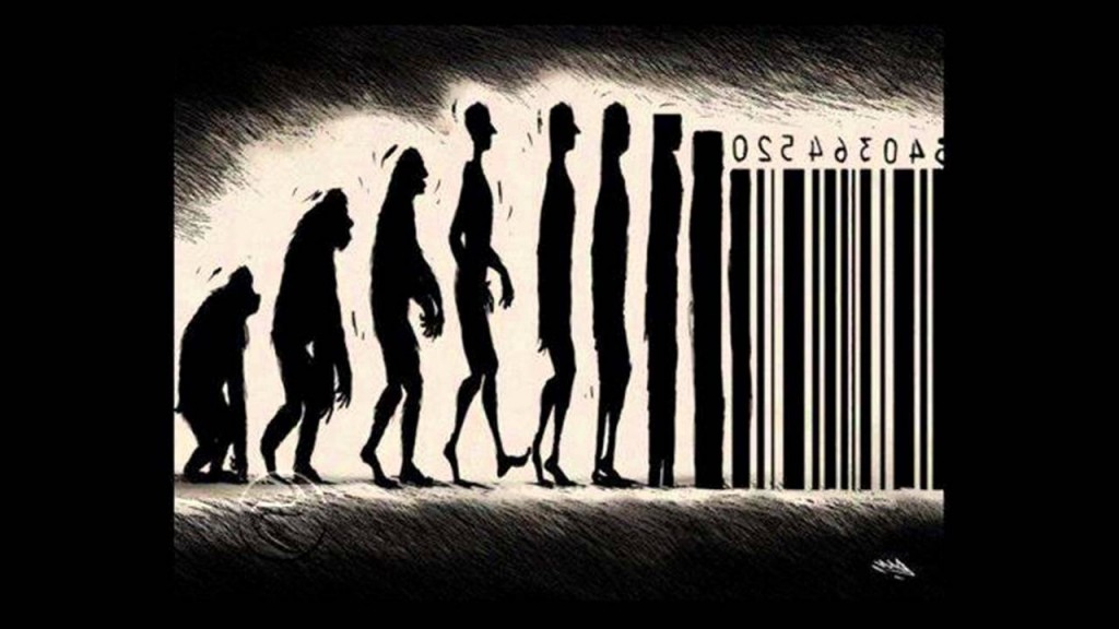 capitalismo-codigo de barras-evolucion humana-sistema caìtalista-economia de mercado-sistema economico