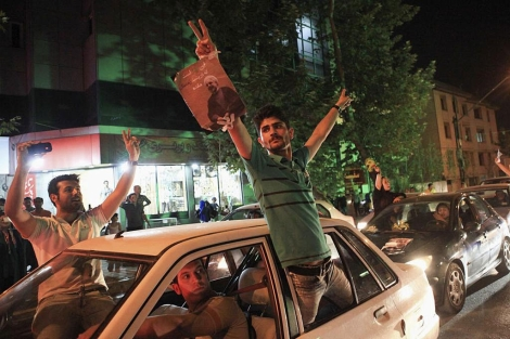 iran-teheran-jubilo en iran-alegria en iran-elecciones en iran