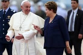 elpapa en brasil-el papa-Francisco I-Dilma-el papa y dilma,