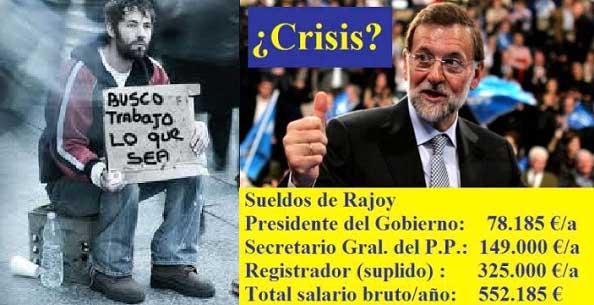 Rajoy-sueldos de Rajoy-Rajoy gana-ingresos de Rajoy