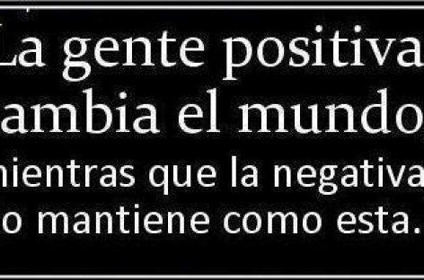 Gente positiva y gente negativa