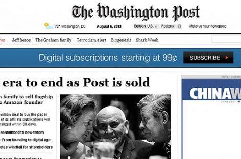 """La venta de """"The Washington Post', un auténtico terremoto"""