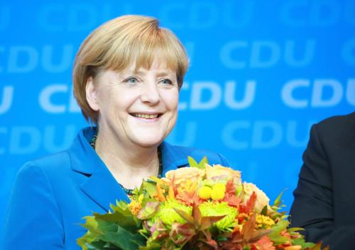 Angela Merkel-Merkel-victoria de Merkel-victoria en Alemania