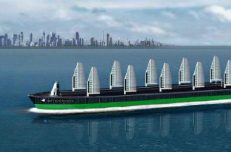 Un barco con velas que fabrica su propia energía