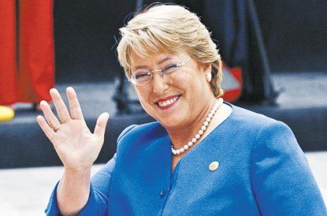 Bachelet entrará en la historia