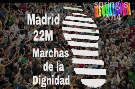 22 M en Madrid, una marea para defender la dignidad
