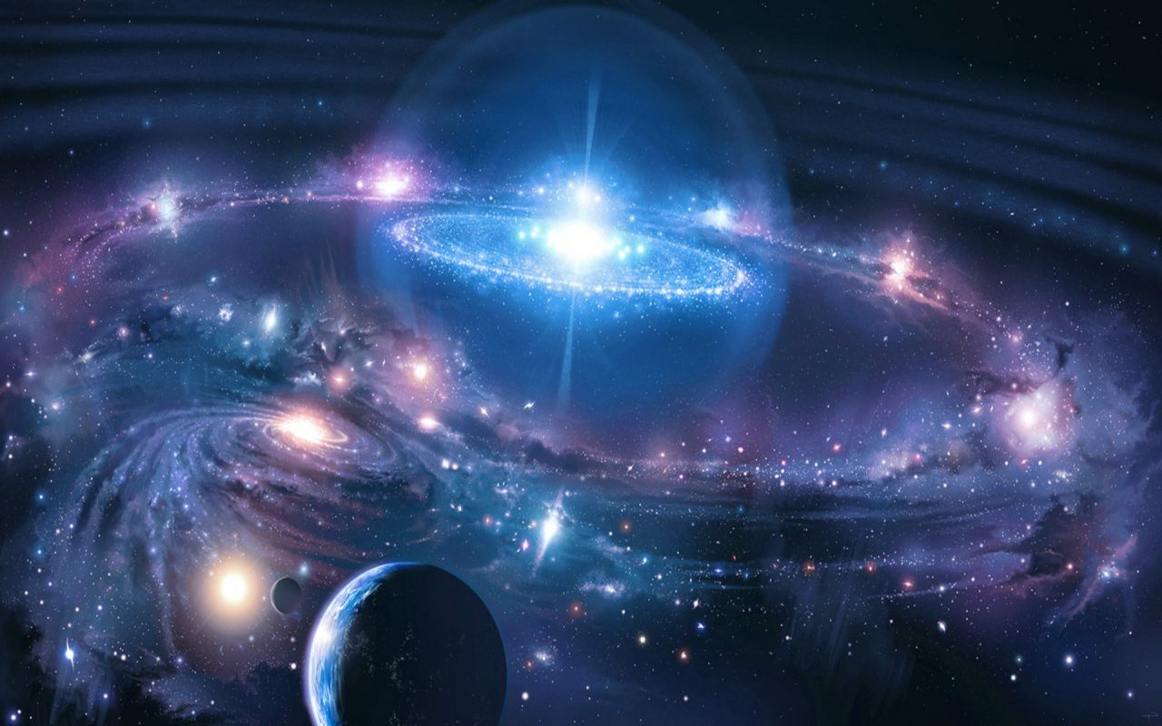 """Cosmic Fantasy Fractal Blacklight: El Origen Del Universo: Fotografían El Primer """"eco"""" Del"""