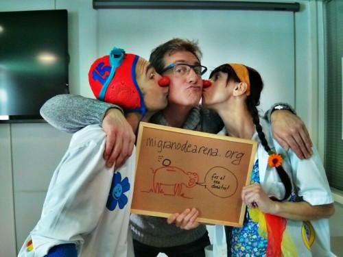 Besos para ayudar a niños hospitalizados