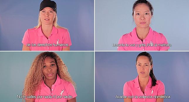Las mejores tenistas contra la violencia de género