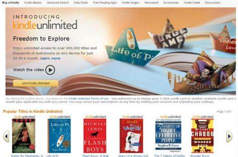 Amazon crea Kindle Unlimited, una tarifa plana para libros electrónicos