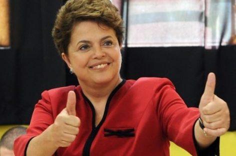 La presidenta de Brasil afronta su candidatura con optimismo