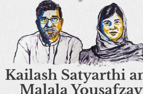 Premio Nobel de la Paz compartido, Malala Yousafzai y Kailash Satyarthi