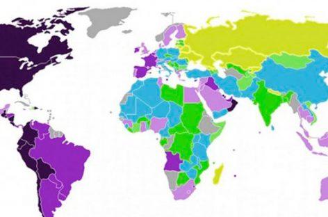 El mapa de los países más sensibles del mundo