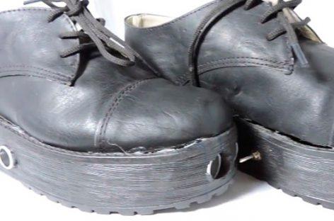 El zapato que sustituye al bastón para invidentes