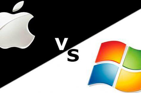 Apple vs. Microsoft, una carrera por el liderazgo tecnológico