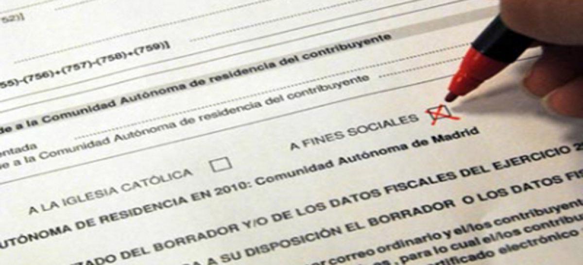 Las ONGs animan a marcar la 'X Solidaria' en nuestra declaración de la renta