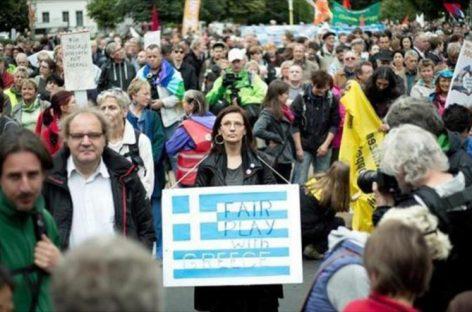 Manifestación en Berlín de apoyo a Grecia