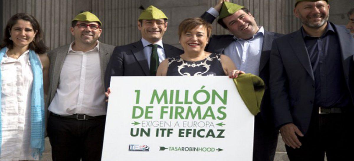 Oxfam Intermón: un millón de firmas por la puesta en marcha de la 'tasa Robin Hood'