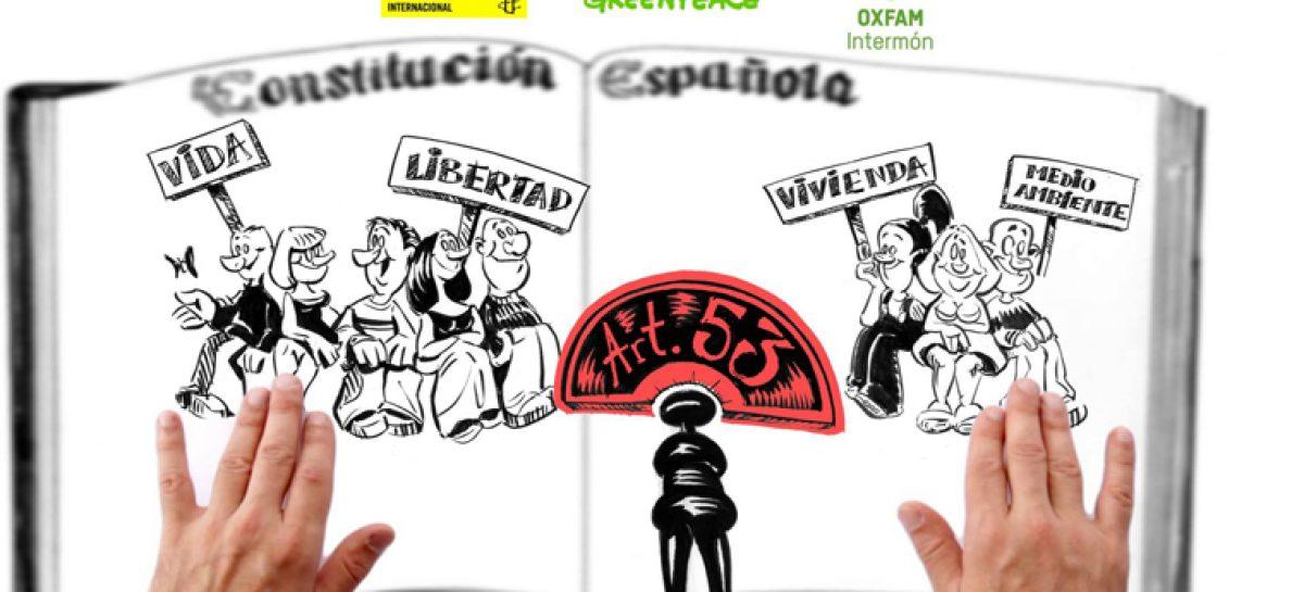 Amnistía Internacional, Greenpeace y Oxfam Intermón presentan la Campaña #Blinda tus derechos, Cambia el artículo 53