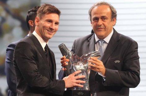 Messi, ganador por segunda vez del premio al mejor futbolista de Europa
