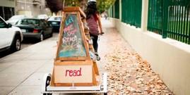 Libros en pedales que recorren toda una ciudad