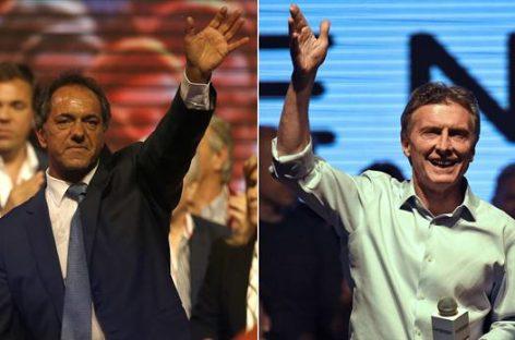 Argentina decidirá entre Daniel Scioli y Mauricio Macri en segunda vuelta