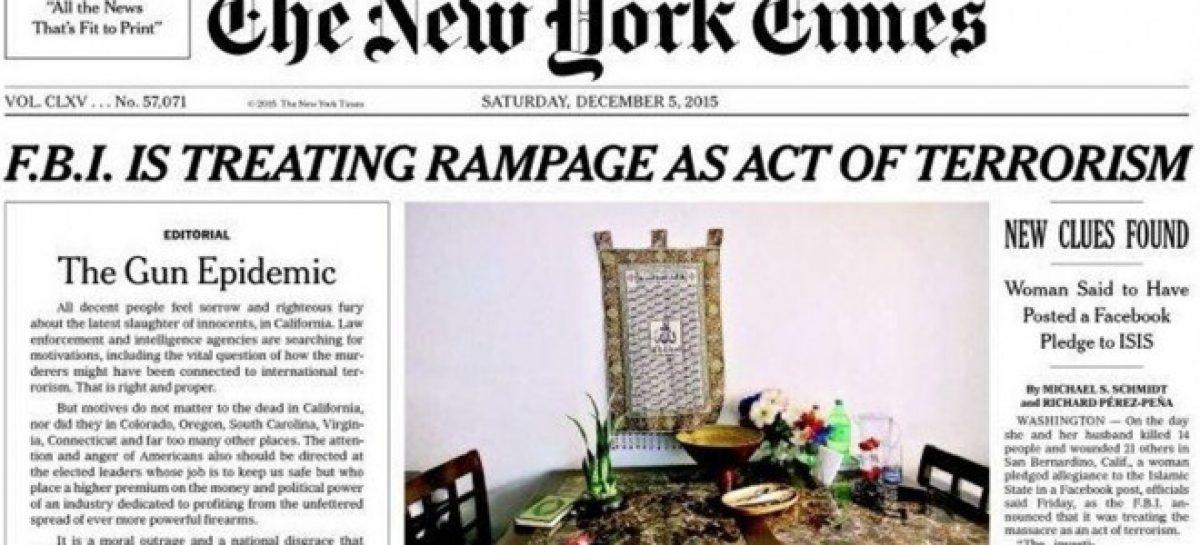 """El 'New York Times' pide erradicar la """"epidemia"""" de las armas en EEUU"""