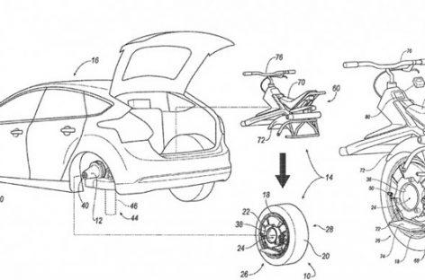 La potente idea de Ford que convierte una rueda del coche en monociclo