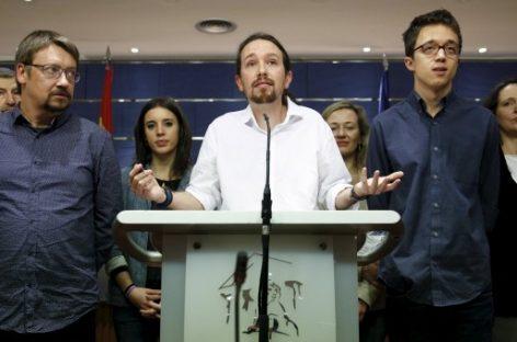 Pablo Iglesias de Podemos propone un gobierno progresista con PSOE e IU