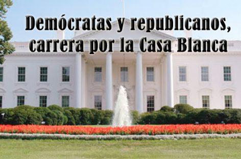 Demócratas y republicanos, carrera por la Casa Blanca