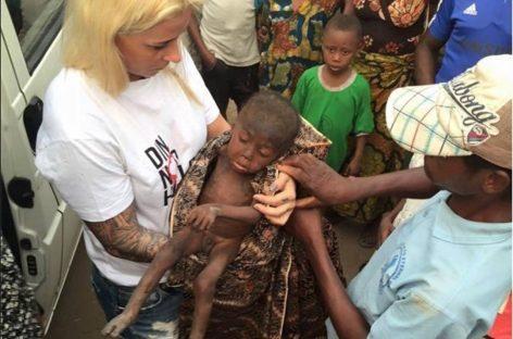 """El rescate que salvó la vida de un niño abandonado por """"brujo' en Nigeria"""