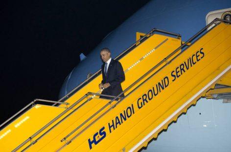 Obama inicia su primer viaje a Vietnam