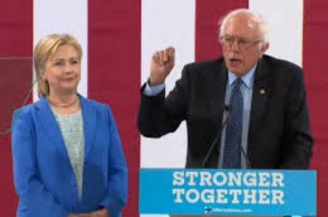 """Bernie Sanders apoya sin fisuras a Hillary Clinton """"debe ser la presidenta de Estados Unidos"""""""