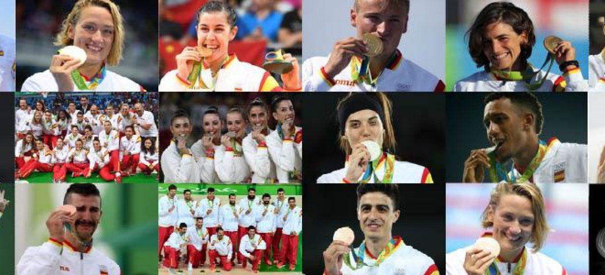 España logra 17 medallas en Rio 2016