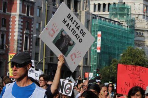 Manifestación en Madrid para reclamar la abolición del sufrimiento animal