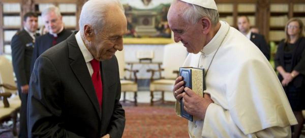 """El papa Francisco sobre Shimon Peres: """"Su legado inspirará a todos"""""""